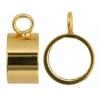Pendant Bail Sliders 9.5x5mm Gold